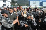 CORREA POLIIAS PROTESTA