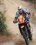 France's Cyril Despres rides his KTM during the 14th stage of the Dakar Rally 2013 from La Serena to Santiago